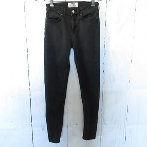 Acne Studios Skinny Jeans Ankle Crop Faded Black